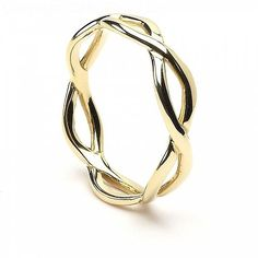 Capture the romance of Celtic mythology and express your eternal love with this Infinity Knot wedding band. Choose from silver, yellow gold, or white gold. Celtic Infinity Knot, Infinity Knot Ring, Celtic Knot Ring, Infinity Ring Wedding, Celtic Knots, Infinity Signs, Irish Wedding Rings, Wedding Rings Simple, Gold Diamond Earrings