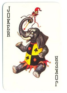 Elephant joker playing card Kenya