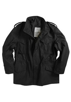 Alpha M-65 Slim Fit Black Jacket