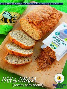 Pan de Linaza, apto dieta Dukan desde la primera fase (Ataque). Receta para horno