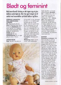 Sy og Strik til Babyborn - Elesy Lena - Picasa Webalbums Knitting Dolls Clothes, Knitted Dolls, Doll Clothes Patterns, Crochet Dolls, Doll Patterns, Knitting Patterns, Reborn Dolls, Baby Dolls, Baby Born Clothes