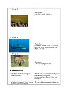 A Detailed Lesson Plan in Science in Grade IV I. enumerate the five ecological relationshi… Science Lesson Plans, Science Lessons, Lesson Plan Examples, Ecology, How To Plan, Pre School, Lp, Zodiac Signs, Zaragoza