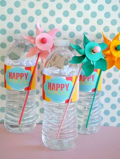 pinwheel birthday party printables {Love the Day on Etsy}