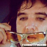 Fashion Fit for a King..Elvis + Glasses