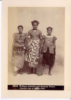 Wallace Islander and Samoan Belles. Taber, San Francisco. Copyright 1894