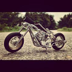 H-Customs Llavero de Plata Chopper Bike Motorcycle Plateado