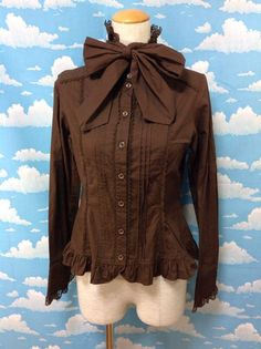 Royal Queen Blouse in Brown from Angelic Pretty - Lolita Desu