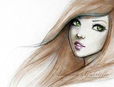 Chica de ojos verdes.