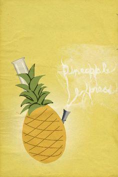 Pineapple Express retro poster minimalist art movie poster print art poster print 11x17. $19.00, via Etsy.