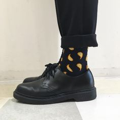 Docs and Socks: The 1461 Mono shoe, shared by __s.h.i.n__.