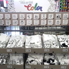 Take the coloring off the page on onto T-shirts for DIY fashion! Use fabric markers to color these shirts to suit your style, featuring popular Disney characters and more