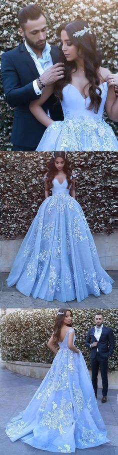 A-LINE PROM DRESS OFF-THE-SHOULDER PROM DRESSES,EVENING DRESS WITH APPLIQUES