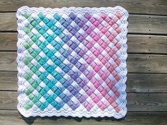 Crochet blanket****WOW!!-cool stitch!!!**** ** This is just a photo inspiration or you can use link provided to buy the pattern. ~ Ruth **