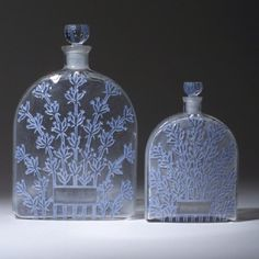 "R. LALIQUE ""Lavande"" two perfume bottles for Alpy, circa 1929"