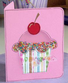 Cupcake Shaker Card - Scrapbook.com