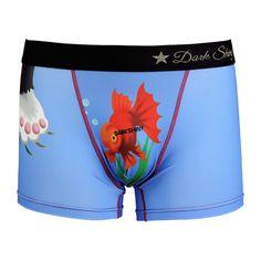 Men's Boxer Pants-Goldn Fish, frontprint メンズファッション アンダーウェア ボクサーパンツ #darkshiny #mensfashion #boxerbrief
