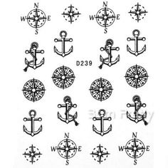 I find an excellent product on @BornPrettyStore, Nail Water Decals Sticker Compass Anchor Patt... at USD $2.86. http://www.bornprettystore.com/-p-6074.html