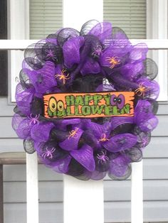 Happy Halloween $30 Craft Sale, 4th Of July Wreath, Hanukkah, Happy Halloween, Wreaths, Crafts, Home Decor, Manualidades, Decoration Home