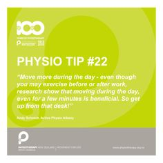 Move more during the day #physiotips