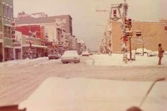 A Snowy Downtown Terre Haute in the 1970s