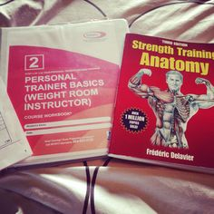 Preparing for my personal #trainer certification! I really love my job being healthy and fitness is a #lifestyle
