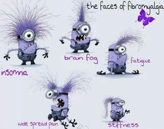 """""""Faces of Fibromyalgia.""""  Can't help it, love these guys. Made me laugh!  :)"""