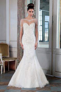 Long sleeve wedding dress from Signature Justin Alexander