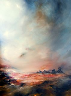 Under Scarlet Skies 100 x 70 cms by Alison Johnson