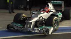 Michael Schumacher in F1 Mercedes 2012 car.