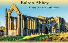 Looking for things to do in Yorkshire? Don't miss a trip to Bolton Abbey, one of the most beautiful places in the whole of Yorkshire! Countries Around The World, Around The Worlds, Bolton Abbey, Get Outside, Be Perfect, Barcelona Cathedral, Taj Mahal, Things To Do, Beautiful Places