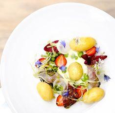 Pommes de terre de Noirmoutier en salade : maquereau & yaourt mentholé, recette d'Alexandre COUILLON