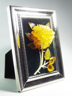 Relief picture 3D Rose true baltic amber carving huge present by CarvingStudio on Etsy