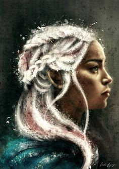 Game of Thrones - Daenerys Targaryen by VarshaVijayan on DeviantArt Game Of Thrones Cast, Game Of Thrones Characters, Cersei Lannister, Daenerys Targaryen, Khaleesi, Red Priestess, Game Of Trone, Avatar, Game Of Throne Daenerys