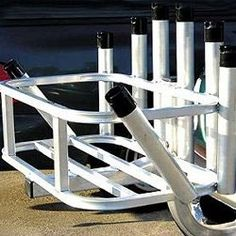Rod Rack 8 Rod Holder Hitch Mount Reels On Wheels by CPI Designs Beach Jeep, Rod Rack, Div Style, Colorful Backgrounds, Surfing, Rod Holders, Wheels, Surf Fishing, Jeep Stuff