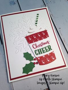 Merry Cafe, Winter Wonder Textured Impressions Embossing Folder, Mary Hanson, Up North Stampin', Stampin' Up!