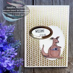 Animal Outing Baby card using Kangaroo