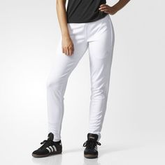 1457120725 Tiro 15 Training Pants - White Soccer Pants
