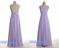 Halter Bridesmaid Dress Lilac Bridesmaid Dress Light by HillMake, $109.00