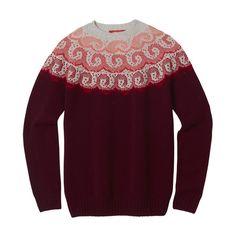 Knitwear – Ocean wave sweater burgundy