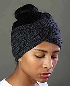 Twisted Crocheted Headband Earwarmer                                                                                                                                                                                 Más