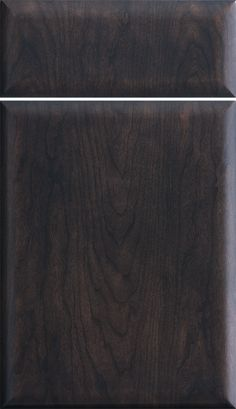 """Dura Supreme Cabinetry """"Moxi - Vertical"""" cabinet door style with Veneer shown in Cherry, Peppercorn finish."""