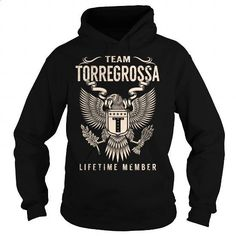 Team TORREGROSSA Lifetime Member - Last Name, Surname T-Shirt - #small gift #mens hoodie. ORDER HERE => https://www.sunfrog.com/Names/Team-TORREGROSSA-Lifetime-Member--Last-Name-Surname-T-Shirt-Black-Hoodie.html?id=60505