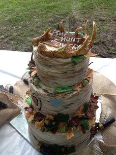 Groom's Cakes - Hunting and fishing theme Groom's cake