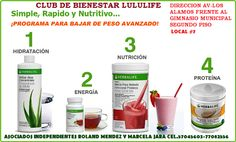 batidos  nutricionales de herbalife