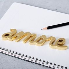 west elm Brass Word Object - Amore