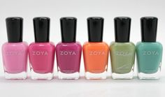 """Zoya """"Beach"""" collection from the Summer 2012 Beach and Surf collection"""