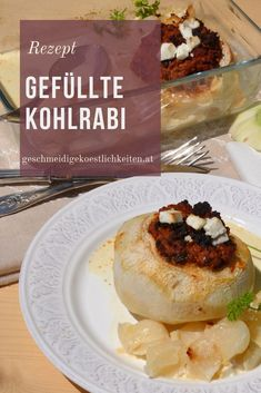Hauptspeise für die ganze Familie. Kohlrabi mit Hackfleisch. #kohlrabi #hackfleisch #hauptspeise #familienrezept Baked Potato, Camembert Cheese, Low Carb, Homemade, Ethnic Recipes, Foodblogger, German, Smooth, Presents
