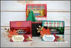 Gather Together Treat Holder Christmas Treats For Gifts, 3d Christmas, Stampin Up Christmas, Christmas Projects, Christmas Cards, Christmas Items, Candy Crafts, Paper Crafts, 3d Paper