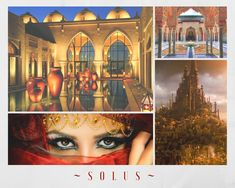 Aesthetic for Solus, the capital city of Sandair also known as the Jewel of Sandair. Solus is home to the Academy and the Solaran royal family, and where the majority of Sand Dancer takes place.