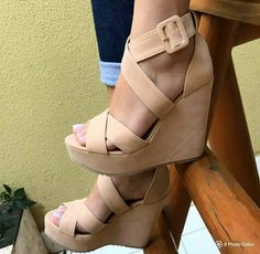 Must Haves, High Heels, Wedges, How To Wear, Shoes, Fashion, Nude Heels, Footwear, Shoes Sandals